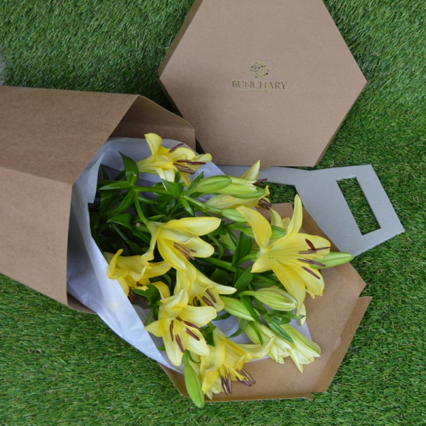 Bunchary Wrapped Asiatic Lilies  (We get you best lilies of the day)